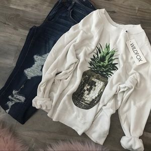 • Wildfox | Party Pineapple Sommers Sweatshirt •